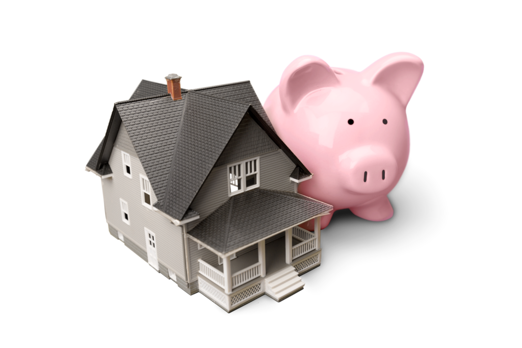 Property Tax Appeal - House and piggy bank